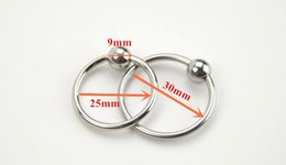 Wholesale Stainless Cockrings - A040 25mm 30mm 2 sizes set men's cock ring steel stainless penis ring toys cockrings delayed ejaculation