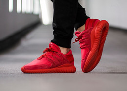Wholesale Nova Fabrics - Authentic Tubular Nova Sneakers Running Shoes Kanye West Red October Men's and Women's Casual Shoes Breathable Sport Shoes Size Eur 36-45