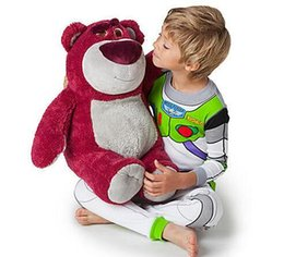 Wholesale Toy Story Strawberry Bear - High quality TOY STORY Lotso Plush Doll Strawberry Bear 40cm plush toy for birthday gift, cute animal toy