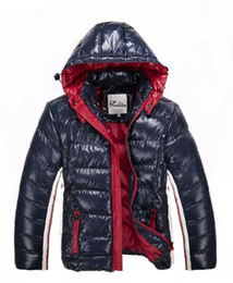 Wholesale Down Jacket High Quality - New Winter Down Hooded Jacket Men's Mon Warm Discount Luxury Brand Jackets For Men Padded Coats High Quality Sale