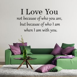 Wholesale Personalised Packaging - Free Shipping Customer-made Personalised I LOVE YOU Bedroom Wall Art Sticker, Decal, Mural for lovers' room