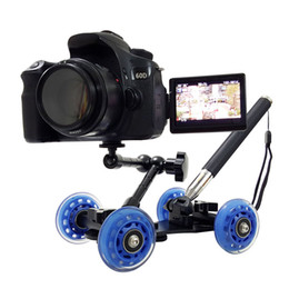 Wholesale Dolly Accessories - Freeshipping 3in1 Table photography dolly + 11 inch Magic arm + Handheld lever monopod DSLR Rig Camera movie kit D7100 750D 80D Accessories