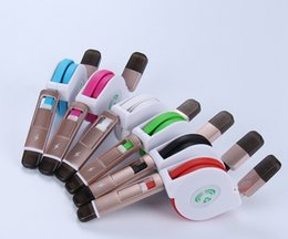 Wholesale Retractable Usb Phone Cable - 2 in 1 Aluminum Micro USB Cable Charging Mobile Phone Cable For iPhone6 5 retractable cable For Samsung Galaxy wholesale