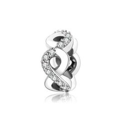 Wholesale infinite gifts - Mothers Day Gifts Infinite Love Spacer Charms Bead Authentic 925 Sterling Silver Jewelry Pave AAA CZ Beads For DIY Brand Bracelets Making