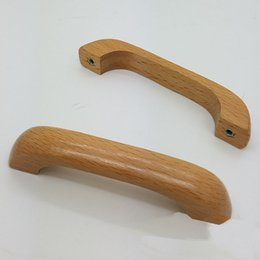 Wholesale Solid Wood Wardrobes Furniture - free shipping wood solid drawer knob furniture hardware wardrobe cabinet shoe door closet handle Wine cool pull