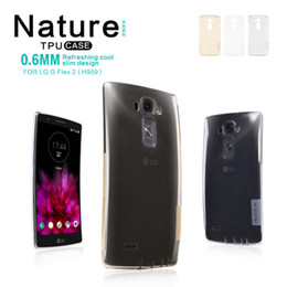 Wholesale Nillkin Case For Lg - Original best LG G Flex 2 phone case cover Nillkin transparent tpu gel high clear anti slip protector for HTC Samsung Sony Nokia