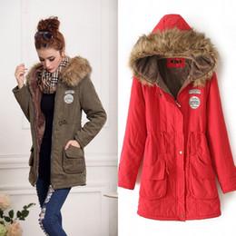 Wholesale Coats Skirt Fur Collars - 2016 Womens Winter Down Coat Jackets Women Thicken Warm Winter Fur Collar Plus Size Parkas for Women Long Down Parka