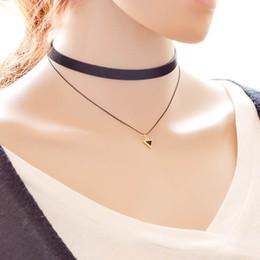 Gotik Stil Vintage Hollow-out Moda Dantel Kolye Bildirimi Gerdanlık Kolye Kadınlar Için düğün Moda Çift Üçgen kolye 161694 cheap double triangle necklace nereden çift üçgen kolye tedarikçiler