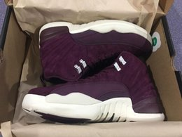 Wholesale High Halloween - Wholesale Air Retro 12 Bordeaux Basketball Shoes Men Sport Shoe Bordeaux 12s Sports Athletic Trainers High Quality Sneakers