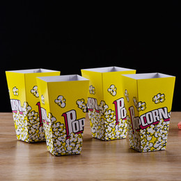 Wholesale Paper Popcorn Boxes - Food Safe Mini Party Paper Popcorn Boxes Candy Favor Bags Wedding Birthday Movie Party Supplies