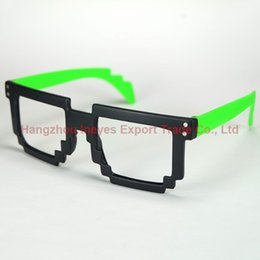 Wholesale Nerd Geek Retro Glasses - New 2016 Nerd Geek Fashion Glasses Retro Masaic Glasses Frame Mixed 7 Colors 20pcs lot JZ8937