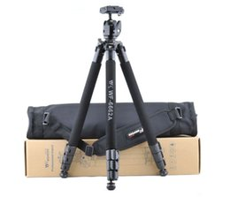 Wholesale Digital Cameras Tripod - Special Promotions New Camera Tripod Accessories WF-6662A SLR Tripod WITH Spherical Yuntai gift Original Package FOR Russia