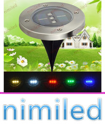 Wholesale New Decorative Led Light - nimi1053 2016 New 3 LED Solar LED Underground Light Lamp Outdoor LED Outdoor Garden Patio Buried Lights IP65 Waterproof Decorative