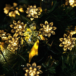 Wholesale Wholesale Christmas Lawn Decorations - Solar Power and Battery Operated Fairy String Lights 4.8M 20 LED Outdoor Festive Garden Lawn Patio Christmas Trees Wedding Party Decorations