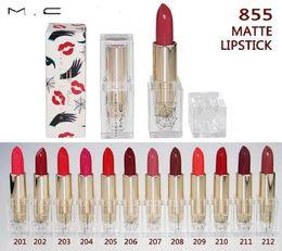 Wholesale Transparent Stockings Hot - 2017 M cosmetics New Hot makeup matte lipstick 855 12 colors Spider Design transparent Pipe Spider in stock sale