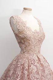 Wholesale Vestidos Prom Cortos - Hot Square Sleeveless Colorful Cocktail Prom Dress 2016 Mini Lace Capped vestidos de fiesta cortos Party