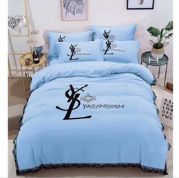 Wholesale Dry Hands - 13 colors lace side of the bubble yarn washing the Nordic wind simple fashion bedding 4 pcs