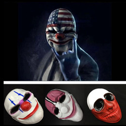 Wholesale Dallas Mask - Halloween Clown Mask Game Payday 2 Chains Dallas Wolf Hoxton Costume Dress Props Cosplay Party Mask 1000pcs OOA2641