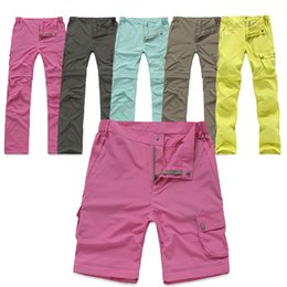 Wholesale Protection Trouser - Wholesale-Outdoor Quick Dry Removable Hiking&Camping Pants Women Summer Breathable Trekking Trousers UV Protection Fishing Pants RW082