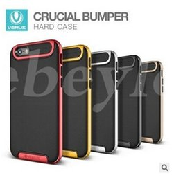 Wholesale V Phone Iphone - V-ERUS Armor Hybrid Cover Ultra Slim Protector Phone Case For Iphone 5 6 7 Plus Samsung Galaxy S7 Edge Note 5 7 Case