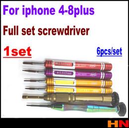 Iphone schrauben voller satz online-1 satz 1 stücke für iPhone 4 4 s 5 5 s 6 6 s 7 8 Plus vollen satz Schraubendreher Y Tech Schraubendreher Spezielle Repair Tool