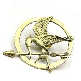 Wholesale European Pin - The Hunger Games Brooches Inspired Mockingjay And Arrow Brooches Pin Corsage Promotion!New Arrival European Hot Movie ZD076
