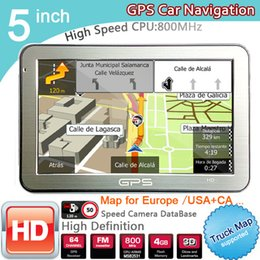 Wholesale Wince Bluetooth - 5 inch Car GPS Navigator FM 8GB DDR128M best gps for IGO US Canada Europe Austrilia Newzealand Free 3D Map WINCE 6.0