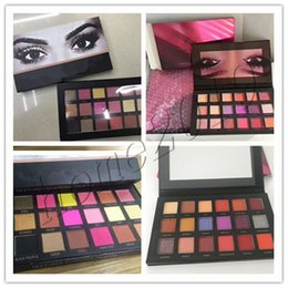 Wholesale Pic Gold - In Stock hot Chrismas 18 Colors Eyeshadow Rose Gold Textured Pallete Make up Eye shadow Palette top quality real pics with free gifts