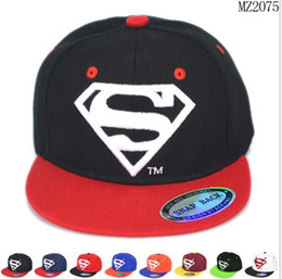 Wholesale Flat Hats For Kids - Baseball Cap Embroidered S Letters Flat Fitted Hats Children Cool Fall Hip Hop Snapback Caps Cartoon Size Free Ship for Kids Halloween Gifts