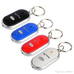 Wholesale Keychain Whistle Locator - Whistle Sound Control LED Key Finder Locator Find Lost Keys Chain Keychain G00018 SMAD