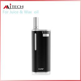 Wholesale good wax - Mjtech 5Svv Kit For Wax & Coil 650mah Battery Box Mod 2in1 Ceramic atomizer 510 cartomizer good quality dhl free