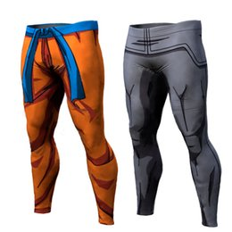 Wholesale Wholesalers Jog Pants - Wholesale-Summer 2016 New Mens compression pants sports running tights basketball gym pants bodybuilding jogging skinny leggings trousers