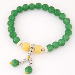 Wholesale Two Ring Pendant - Bohemian Nature Stone Beads Bracelets & Bangles for Women Two Balls Pendant Men Brazaletes Pulseras Mujer Bijoux Femme 9 Colors