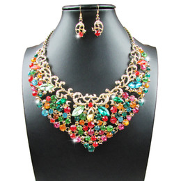 Wholesale Costume Prom Wedding Jewelry - DS629 Fashion Bridal Jewelry Sets Wedding Necklace Earring For Brides Party Prom Costume Accessories Decoration Women