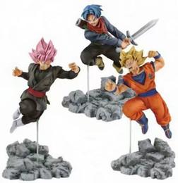 Wholesale Kid Goku Figure - New hot sale anime figure PVC Dragon Ball soulXsoul Son Goku black trunks 10CM gift for children