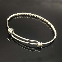Wholesale Custom Rings China - 10pcs lot China Fashion Bangle, Twist Wire Bangle Bracelet,Custom Charm Bracelet, Stainless Steel Adjustable Twisted Bangles