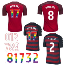 Wholesale Cheap Soccer Team Shirts - Hot Selling Cheap 17 18 PULISIC usa Adults mens Soccer Jerseys UnIted States AmerIcan Football shirt National Team Thai Quality 2017 2018