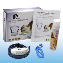 Wholesale Battery Trains - Newest pet supplies Dog Training Collar Citronella Spray Dog Barking-stop device Smart Spray Li-battery rechargeable Spray volume adjustable