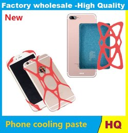 Wholesale Gaming Cool Pad - Tragbare mobile Gaming cooling Pad phone cooling paste mobile cooler for Iphone6 6s 7s samsung s4 s5 s6 s7 universal With Package 1000pcs
