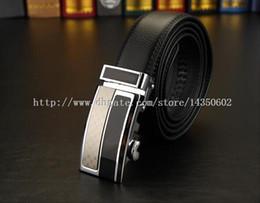 Wholesale Leather Belt Name Brands - new designer brand name fashion Men's Business Waist Belts Automatic buckle Genuine Leather belts For Men 105-130cm