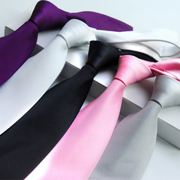 Wholesale Gravatas Jacquard - Mens Ties 2016 New arrival Ties for Men Jacquard Gravatas for Business Suit Wedding Party Corbata Neckties solid color