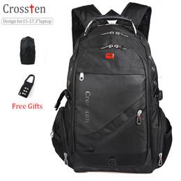 """Wholesale Swiss Notebook - Crossten Swiss Military Army Travel Bags Laptop Backpack 15.6"""" 17"""" Multifunctional Schoolbag Waterproof Notebook Computer bag"""