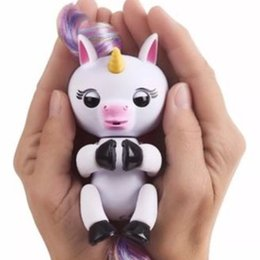 Wholesale Electronic Gifts For Christmas - Lovely Gigi Fingerlings Unicorn Fingerling Electronic Smart Touch Fingers Toys Interactive Baby Unicorn Finger Toy As Gifts For Kids
