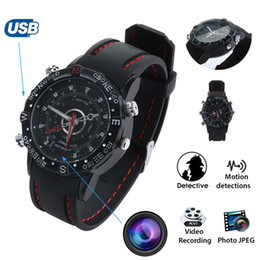 Wholesale Hidden Watch Camera 16gb - Waterproof 8GB 16GB 32GB Spy Watch DVR Video Recorder Pinhole Hidden Mini Camera Camcorder