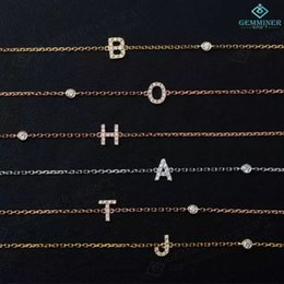 Wholesale Jewelry Channel Letters - the beautiful bracelets Letters zircon hand chain for women 925 silver, gold-plated jewelry stone assembly 18 for direct supply