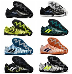 Wholesale Cheap Soccer Shoes Yellow - 2018 mens soccer cleats purecontrol turf tango nemeziz 17 indoor soccer shoes cheap football boots men Nemeziz Tango 17.3 IC TF Original