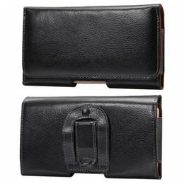 Mela cellulare online-Genuine Real Leather Grado Celular Hip Holster Orizzontale Custodia Clip per Iphone 7 6 6 S SE / Per Huawei P9 / P8Galaxy S7Buckle Belt Coat Pouch