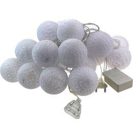 Canada 6cm coton extérieur boule led string lumières 5m 20leds fée lampe de noël maison décoration de fête de mariage patio lumière AC 220v / 110v Offre