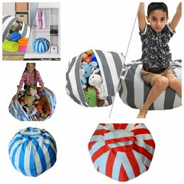Wholesale Toy Doll Animals Clothing - Storage Bean Bags Plush Toys Beanbag Chair Kids Bedroom Stuffed Animal Dolls Organizer Toys Buggy Bags Clothes Storage Tool KKA3206