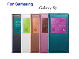 Wholesale Cheap Cases For Galaxy S4 - Samsung Galaxy S4 S5 S6 Edge Plus Original Cheap Luxury Ultra Thin Smart Automatic Sleep Leather Case Note 3 4 5 A5 A7 View Window Cover Bag